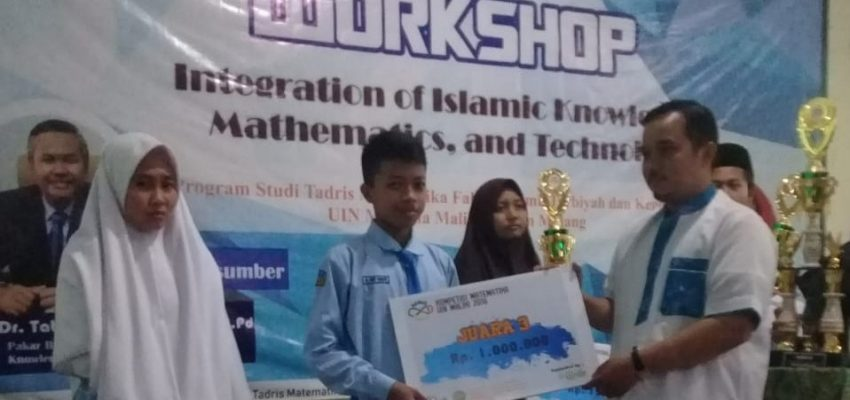 Siswa MAN 3 Kediri Juara 3 Lomba Matematika UIN Malang